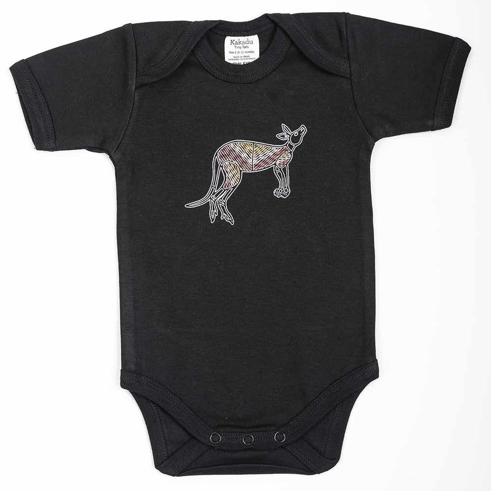 Kangaroo Dreaming Jumpsuit Black 6-12 months