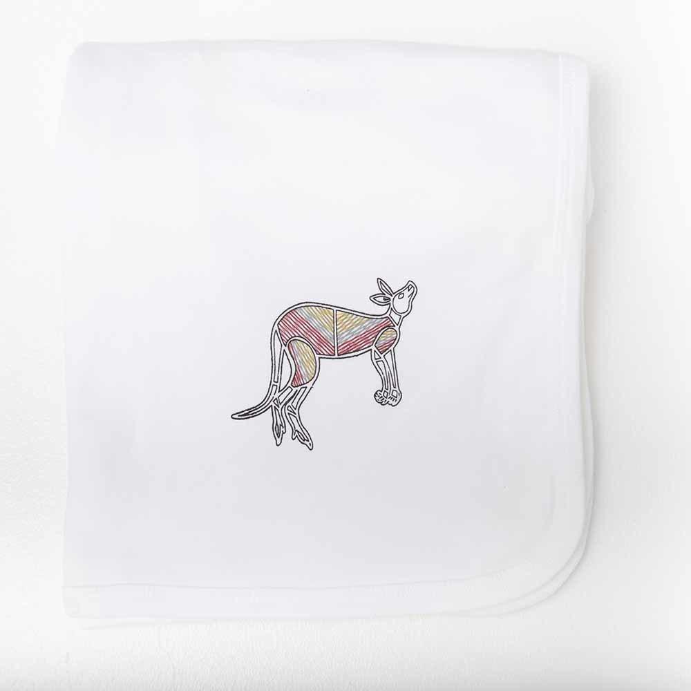 Kangaroo Dreaming Baby Wrap White