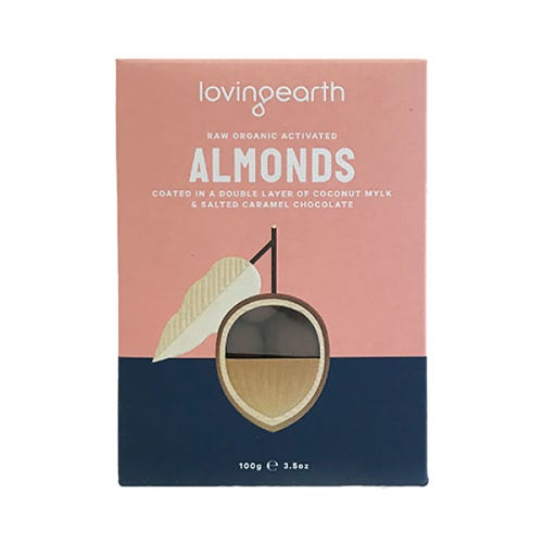 Loving Earth Almonds in Mylk & Salted Caramel Chocolate