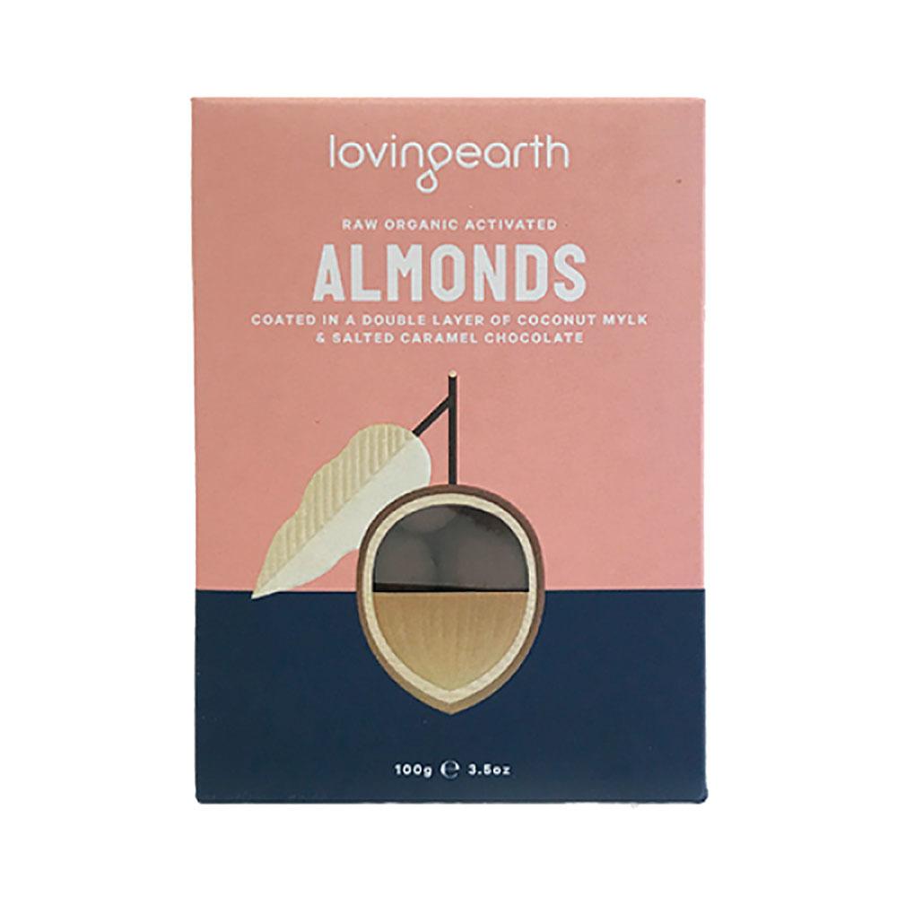 Loving Earth Almonds in Mylk & Salted Caramel Choc