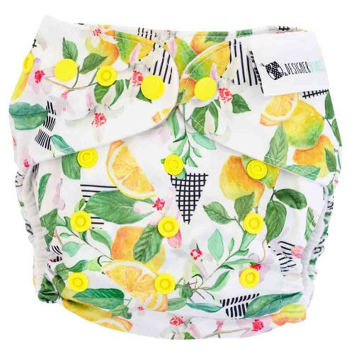 Designer Bums Reusable Nappy - Lemon Drop