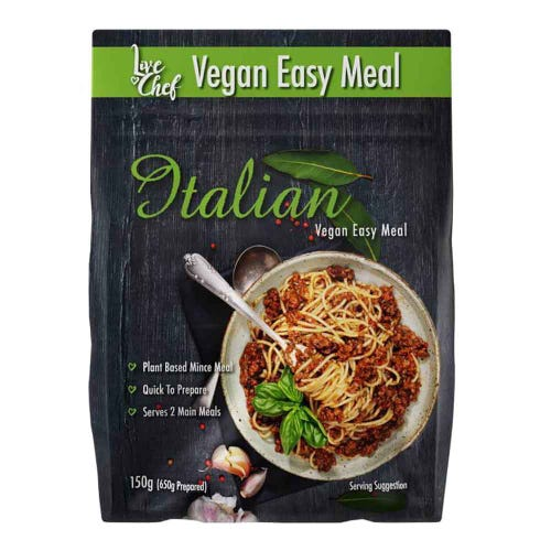 Live Chef Italian Vegan Easy Meal
