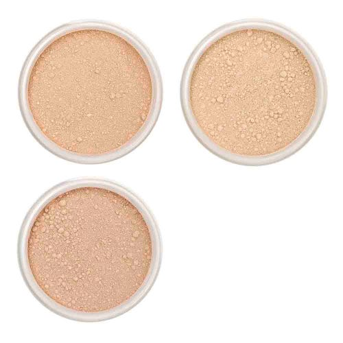 Lily Lolo Foundation Sample Set - Light-Medium (3 x 0.75g pots)