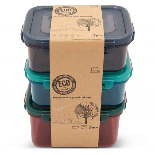 Lock & Lock Eco Storage Container - 3 Piece Set