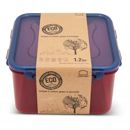 Lock & Lock Eco Storage Container - Square 1.2L