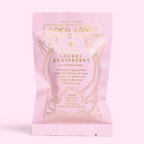 Loco Love Black Cherry & Raspberry Chocolate (30g)