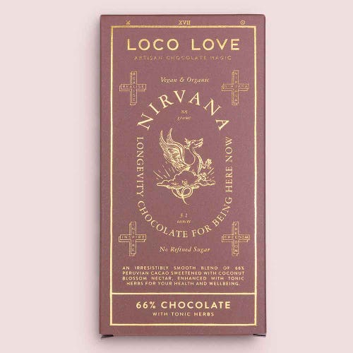 Loco Love Nirvana Chocolate Block - 66% Peruvian Cacao (88g)