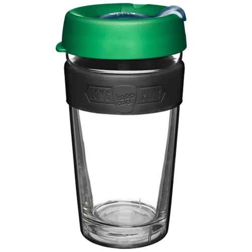 KeepCup LongPlay Glass Coffee Cup Elm (16oz)
