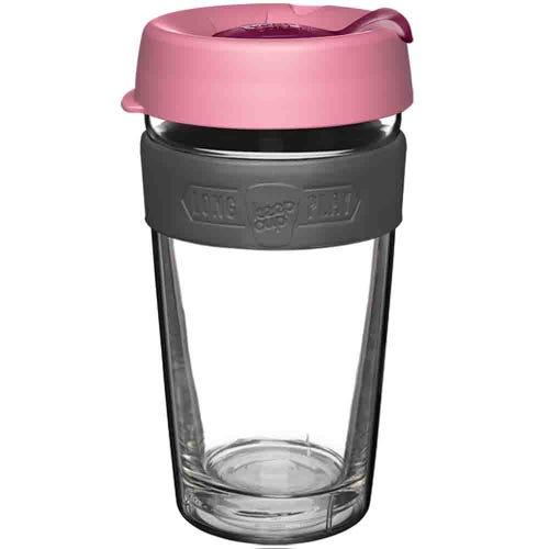 KeepCup LongPlay Glass Coffee Cup Scarlet (16oz)