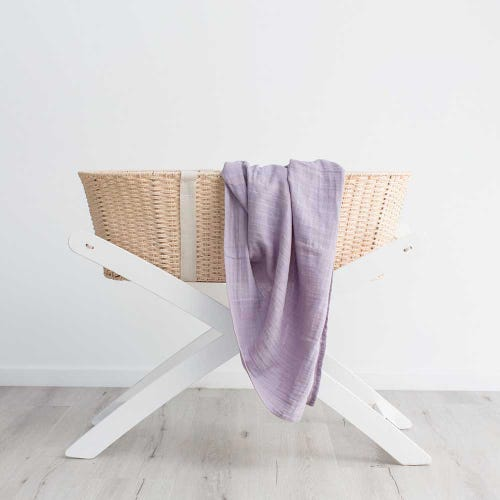 Love & Lee Organic Cotton Muslin Swaddle - Little Lilac