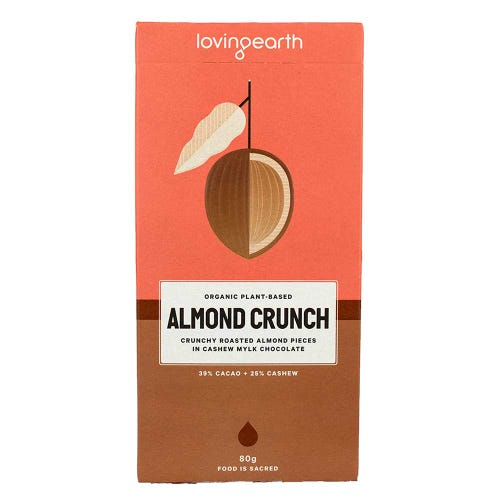 Loving Earth Organic Almond Crunch (80g)