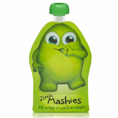 Little Mashies Resuable Food Pouch 2 Pack - Green