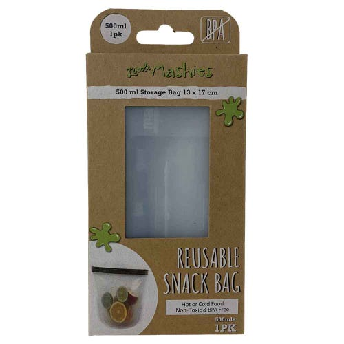 Little Mashies Reusable Food Snack Bag (1 x 500ml)