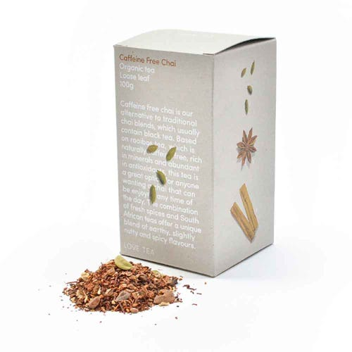 Love Tea - Caffeine Free Chai Loose Leaf Tea (100g)