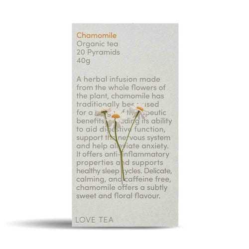 Love Tea - Organic Chamomile Pyramid Tea Bags (20)