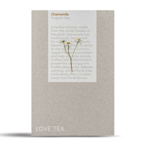 Love Tea - Organic Chamomile Pyramid Tea Bags (50)