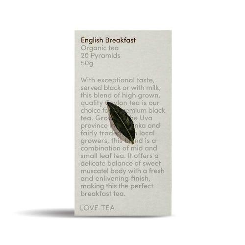 Love Tea - English Breakfast Pyramid Tea Bags (20)