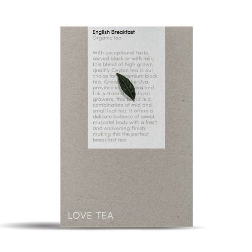 Love Tea - English Breakfast Pyramid Tea Bags (50)