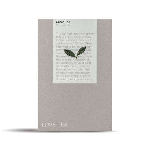 Love Tea - Green Tea Pyramid Bags (50)