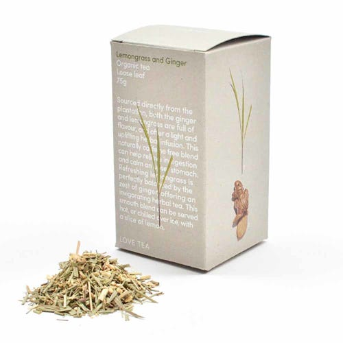 Love Tea - Lemongrass & Ginger Loose Leaf Tea (75g)