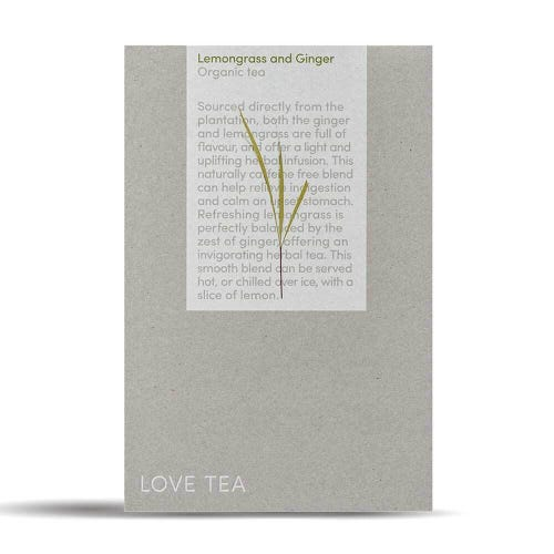 Love Tea - Lemongrass & Ginger Pyramid Tea Bags (50)