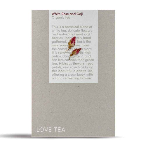 Love Tea - White, Rose & Goji Loose Leaf Tea (150g)