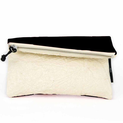 Maravillas Piñatex Purse - Natural & Black