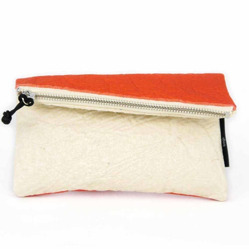 Maravillas Piñatex Purse - Natural & Red