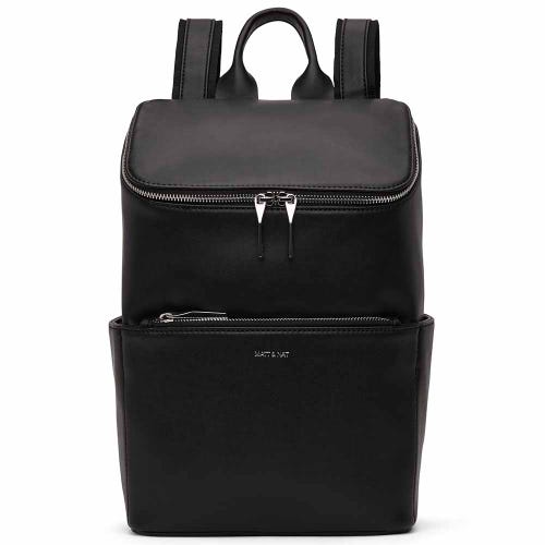 Matt & Nat Brave Backpack - Black Shiny Nickel