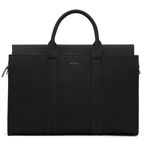 Matt & Nat Parallel Satchel Bag - Black
