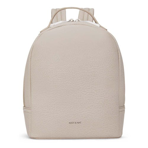 Matt & Nat Olly Backpack - Koala Matte Nickel