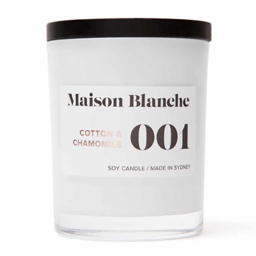 Soy Wax Candle 001 Cotton & Chamomile - 40 hours