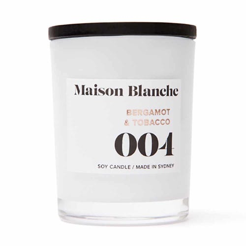 Soy Wax Candle 004 Bergamot & Tobacco - 15 hours