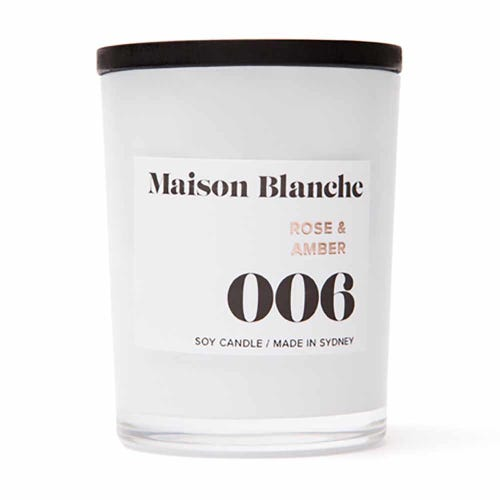 Soy Wax Candle 006 Rose & Amber - 15 hours