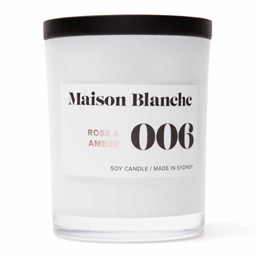 Soy Wax Candle 006 Rose & Amber - 40 hours