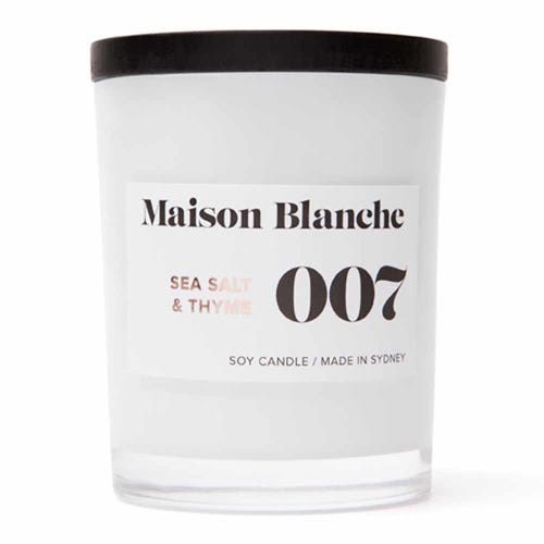 Soy Wax Candle 007 Sea Salt & Thyme - 40 hours