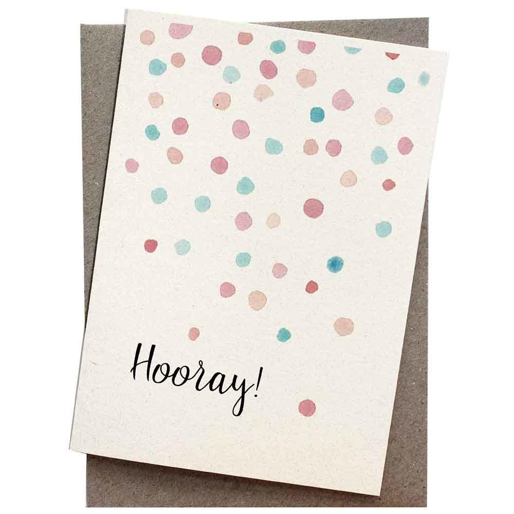 Hello Petal Seeded Card - Hooray Confetti