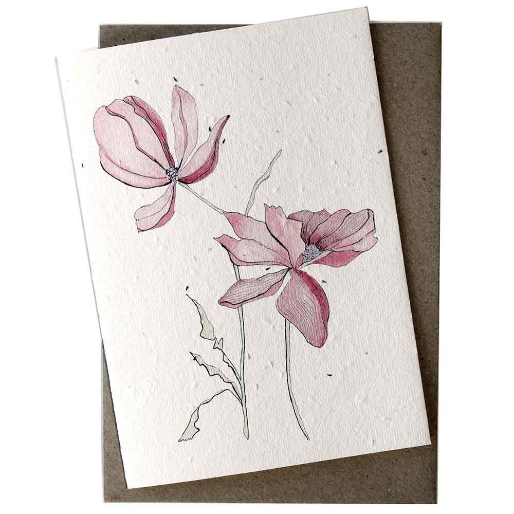 Hello Petal Seeded Card - Magnolia