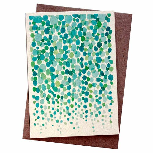 Hello Petal Seeded Card - String of Pearls