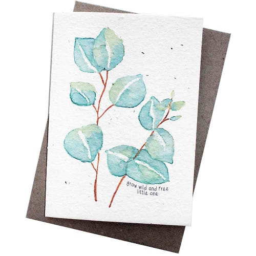 Hello Petal Seeded Card - Grow Wild And Free