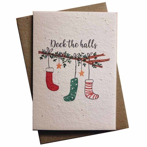 Hello Petal Christmas Card - Deck The Halls