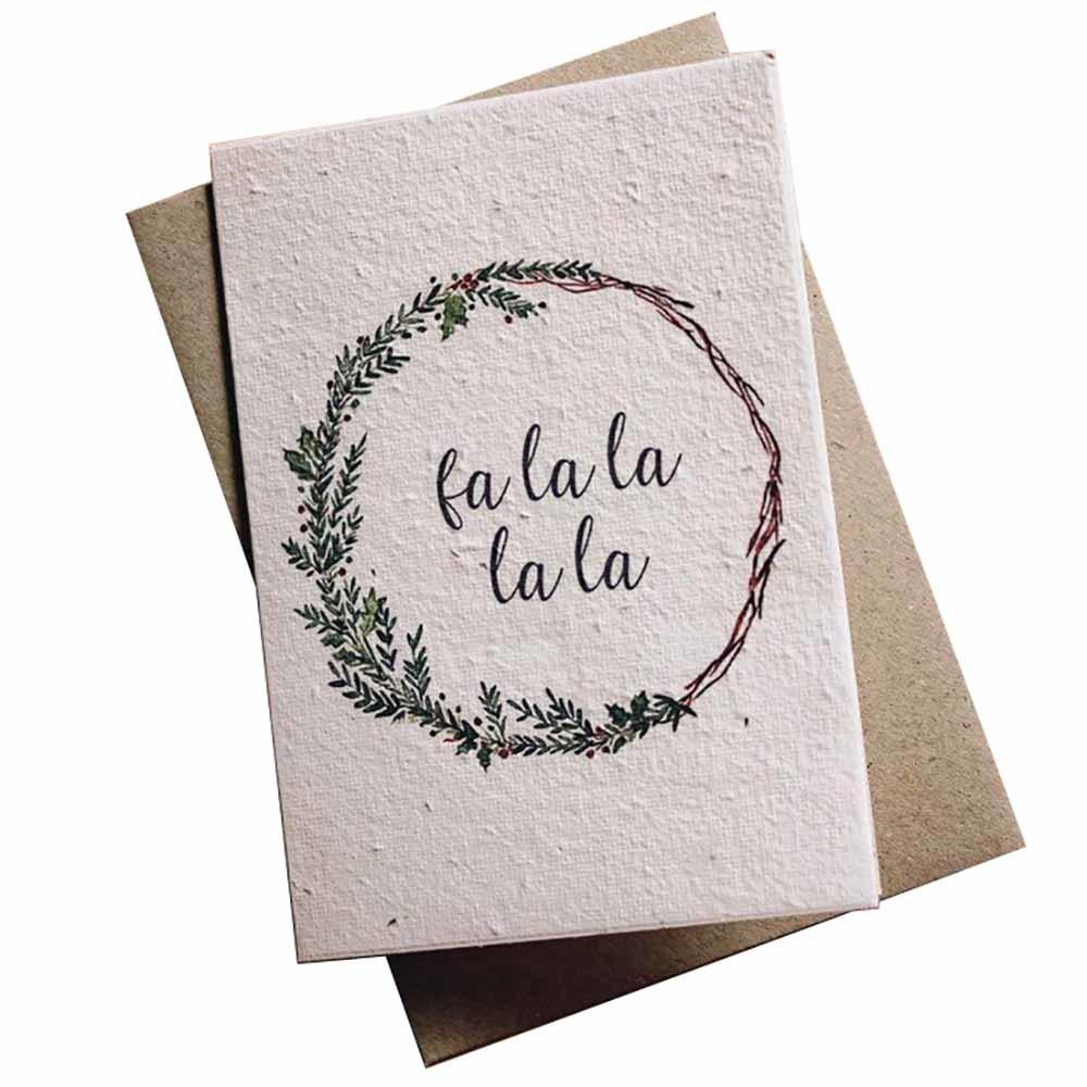 Hello Petal Christmas Card - Fa La La La La