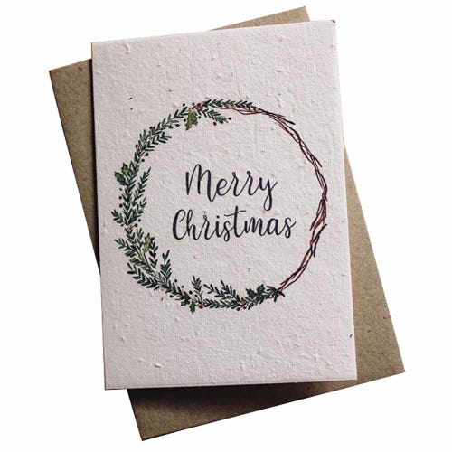 Hello Petal Christmas Card - Merry Christmas