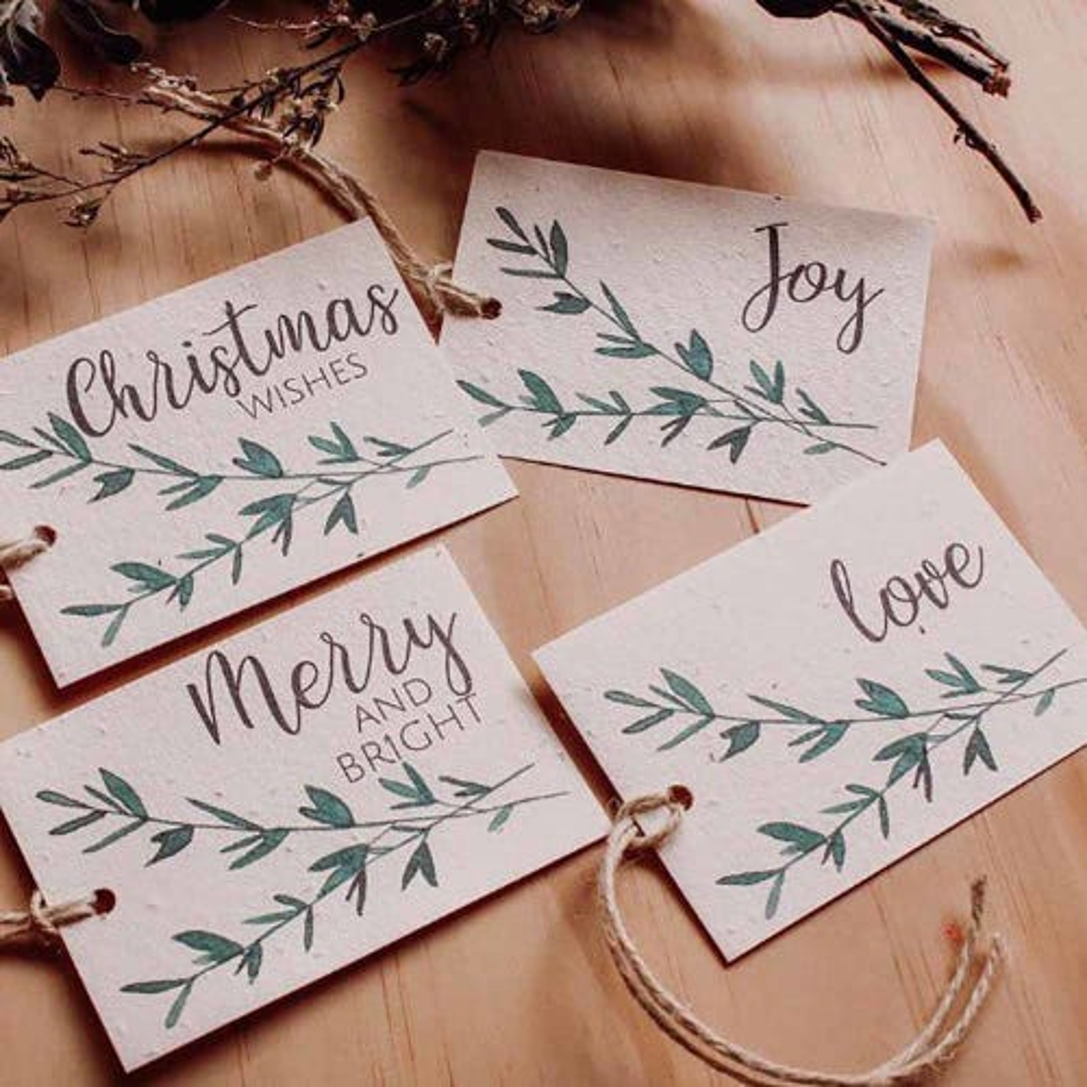 Hello Petal Christmas Tags Sprig - 4 Pack