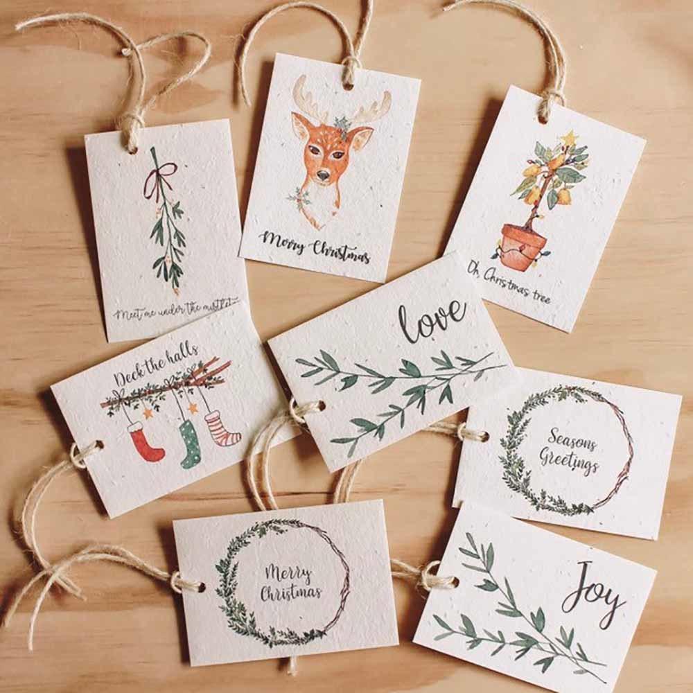Hello Petal Christmas Tags Joy - 8 Pack