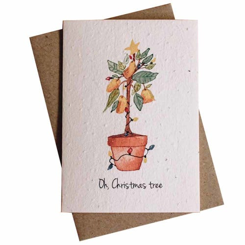 Hello Petal Christmas Card - Oh Christmas Tree