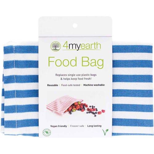 4MyEarth Food Bag - Denim Stripe