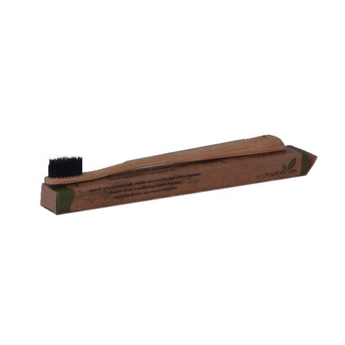 Eco Bamboo & Charcoal Toothbrush - Soft Bristle