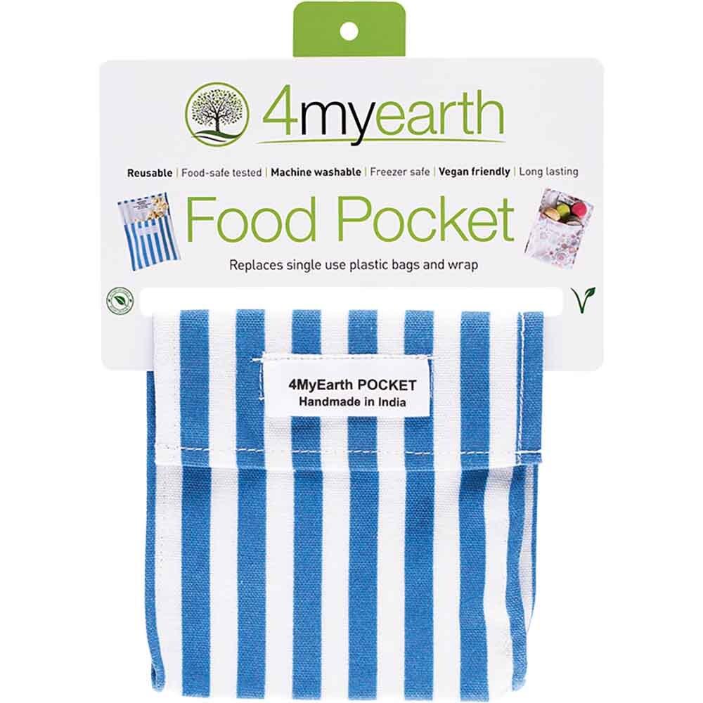 4MyEarth Food Pocket - Denim Stripe