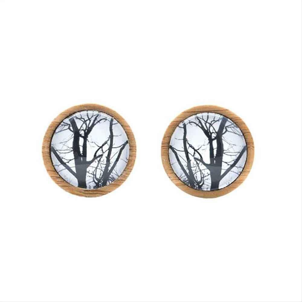 Myrtle & Me Cufflinks - Winter Trees